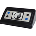 LEGO Black Slope 1 x 2 (31°) with Black and Blue Buttons and Radar Sticker