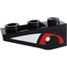 LEGO Black Slope 1 x 3 (25°) Inverted with Red Eye Right Sticker