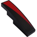 LEGO Black Slope 1 x 4 Curved with Black/Red diagonal part right Sticker