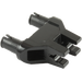 LEGO Black Technic Connector 3 x 1 x 3 with Two Pins and Two Clips (19159 / 47994)