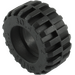 LEGO Black Tire Ø 30.4 x 14 with Offset Tread Pattern and Band around Center (92402)