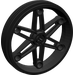 LEGO Black Wheel 61.6 x 13.6 Motorcycle