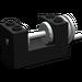 LEGO Black Winch 2 x 4 x 2 with Light Grey Drum (73037)
