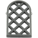 LEGO Black Window 1 x 2 x 2.667 Pane Lattice Diamond with Rounded Top (29170 / 30046)