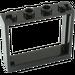 LEGO Black Window 1 x 4 x 3 without Shutter Tabs (60594)