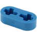 LEGO Blue Beam 2 x 0.5 with Axle Holes (41677)