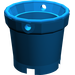LEGO Blue Bucket with Holes
