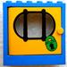 LEGO Blue Door Frame 2 x 6 x 5 with Yellow Door with Sticker