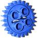LEGO Blue Gear with 24 Teeth (3648)
