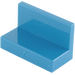 LEGO Blue Panel 1 x 2 x 1 without Rounded Corners (4865)
