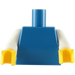 LEGO Blue Plain Torso with White Arms and Yellow Hands (76382)