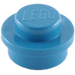 LEGO Blue Plate 1 x 1 Round (6141)