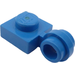 LEGO Blue Plate 1 x 1 with Clip (Thin Ring) (4081)