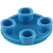 LEGO Blue Plate 2 x 2 Round with Rounded Bottom (2654)