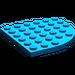 LEGO Bleu assiette 6 x 6 Rond Coin (6003)