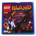 LEGO Tile 2 x 2 with 'ISLAND' and Lego Logo Sticker with Groove (3068)