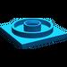 LEGO Blue Turntable 4 x 4 Base (3403)
