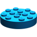 LEGO Blue Turntable 4 x 4 Top (Non-Locking) (3404)