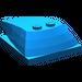 LEGO Blue Wedge 6 x 4 x 1.333 with 4 x 4 Base (93591)