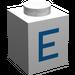 "LEGO Brique 1 x 1 avec Blue ""E"" (3005)"
