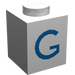 """LEGO Brique 1 x 1 avec Blue """"G"""" (3005)"""