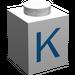 """LEGO Brique 1 x 1 avec Blue """"K"""" (3005)"""