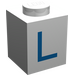 """LEGO Brique 1 x 1 avec Blue """"L"""" (3005)"""