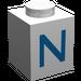 """LEGO Brique 1 x 1 avec Blue """"N"""" (3005)"""