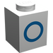 "LEGO Brique 1 x 1 avec Blue ""O"" (3005)"