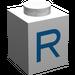 """LEGO Brique 1 x 1 avec Blue """"R"""" (3005)"""