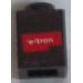 LEGO Brick 1 x 1 with Red 'e-tron' and White Triangle Sticker (3005)