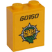 LEGO Brick 1 x 2 x 2 with '60160' and Jungle Explorers Logo Sticker with Inside Stud Holder (3245)