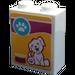 LEGO Brick 1 x 2 x 2 with Dog Biscuit Box Sticker (3245)