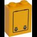 LEGO Brick 1 x 2 x 2 with Locks in Door Sticker with Inside Stud Holder (3245)