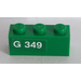 LEGO Brick 1 x 3 with 'G 349' (Left) Sticker (3622)