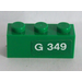LEGO Brick 1 x 3 with 'G 349' (Right) Sticker (3622)