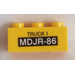 LEGO Brick 1 x 3 with 'TRUCK 1' and 'MDJR-86' Sticker (3622)