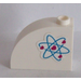 LEGO Brick 1 x 3 x 2 Curved Top with Heart Electron Orbitals Pattern (Left) Sticker (33243)