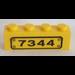 LEGO Brick 1 x 4 with '7344' Sticker (3010)