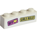 LEGO Brick 1 x 4 with 'BFF' and 'Girls Rule' Sticker (3010)