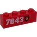 LEGO Brick 1 x 4 with Fire Badge and 7043 (Right) Sticker (3010)