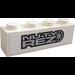"""LEGO Brick 1 x 4 with """"NUTY REZ"""" Sticker (3010)"""