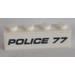 LEGO Brick 1 x 4 with 'POLICE 77' Sticker (3010)