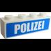 """LEGO Brick 1 x 4 with """"POLIZEI"""" Sticker (3010)"""