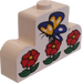 LEGO Brick 1 x 4 x 2 with Centre Stud Top with Butterfly and Flowers Sticker (4088)