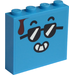 LEGO Brick 1 x 4 x 3 with Cool Smiley with Brown Drop on both sides Sticker (49311)