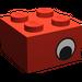 LEGO Brick 2 x 2 with Black and White Eye on Both Sides (3003 / 81910)