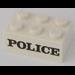 "LEGO Brick 2 x 3 with Black ""POLICE"" Serif Decoration (3002)"