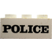 LEGO Brick 2 x 3 with Embossed Black 'POLICE' Serif Bold Pattern (Earlier, without Cross Supports) (3002)