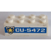 LEGO Brick 2 x 4 with 'CU-5472' and Badge (Both Sides) Sticker (3001)